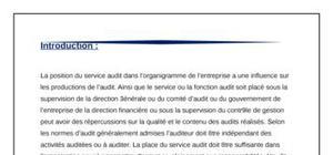 Norme ISA (800)/ Rapport de l'auditeur (Indépendant) sur les missions d'audit spéciales.