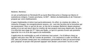 Lettre De Motivation Dut Banque