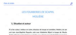 Fiche de lecture : Les Fourberies de Scapin, Molière