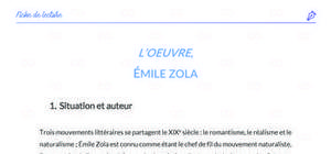 Fiche de lecture : L'Oeuvre de Emile Zola analyse et résumé