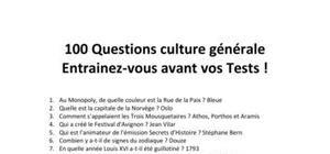 100 Questions de Culture Générale