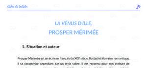 Fiche de lecture : La Vénus d'Ille de Prosper Mérimée analyse et résumé