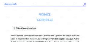Fiche de lecture : Horace de Corneille - analyse et résumé