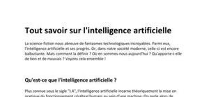 L'intelligence artificielle c'est quoi ? - Définition de l'I.A.