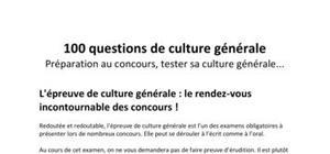 100 Questions de Culture Générale n°2