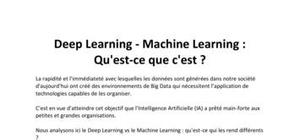 Deep Learning - Machine Learning : Qu'est-ce que c'est ?