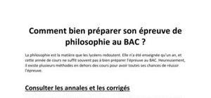 Comment bien préparer son épreuve de philosophie au BAC ?