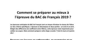 Comment se préparer au mieux à l'épreuve du BAC de Français 2019 ?