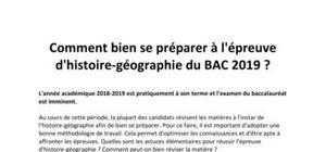 BAC 2019 : Comment bien se préparer à l'épreuve d'histoire-géographie ?