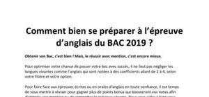 BAC 2019 : Comment bien se préparer à l'épreuve d'anglais ?