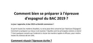 Comment bien se préparer à l'épreuve d'espagnol du BAC 2019 ?