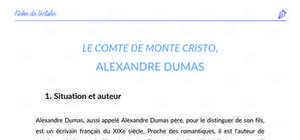 Fiche de lecture : Le Comte de Monte Cristo par Alexandre Dumas (Analyse et Résumé)