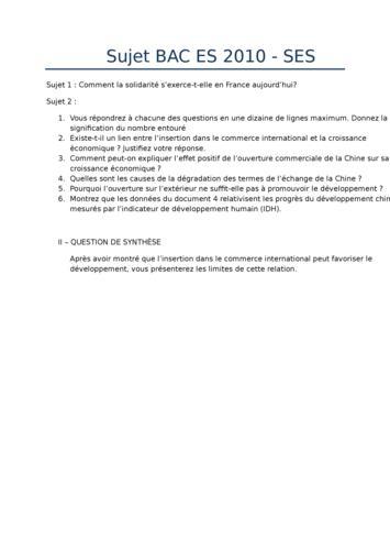 grille notation dissertation ses
